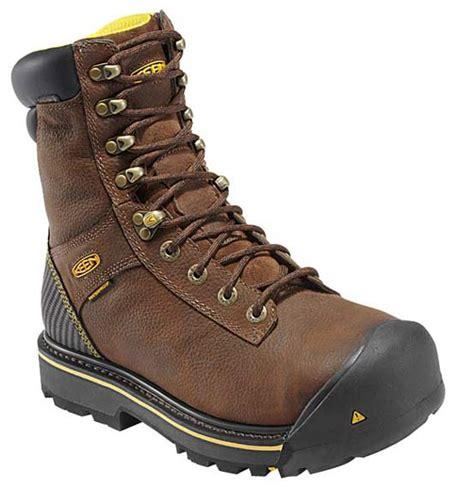keen steel toe work boots keen wenatchee waterproof insulated steel toe brown work boot