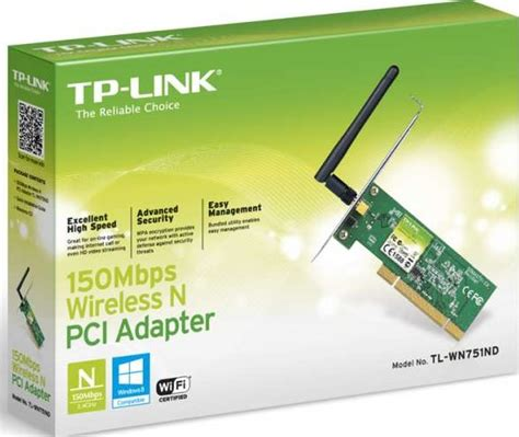 Wireless Tp Link Tl Wn751nd tp link tl wn751nd 150mbps wireless n pci adapter tl