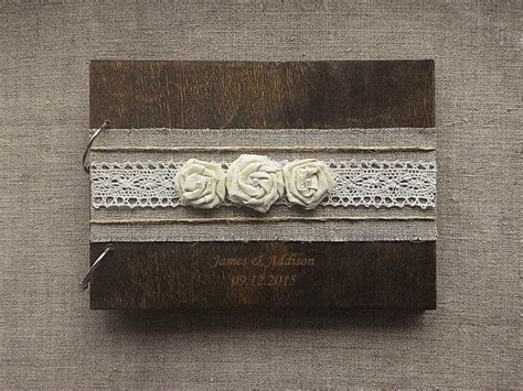rustic wedding guest books wedding guest books burlap lace rustic guest book wooden