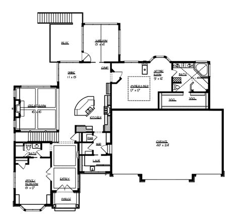 executive ranch floor plans oaktimber luxury ranch home plan 072s 0006 house plans