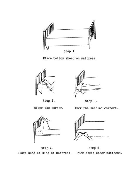 military bed making military bed making figure 3 2 making a bed cont basic