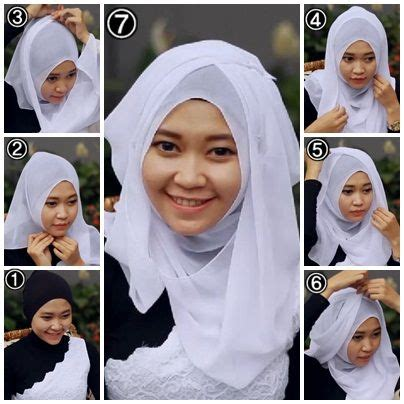tutorial hijab ke pesta simpel tips cara memakai jilbab pesta simple modern cantik