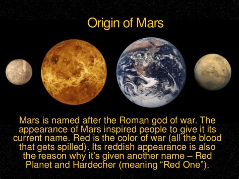 what is the origin of the word mars
