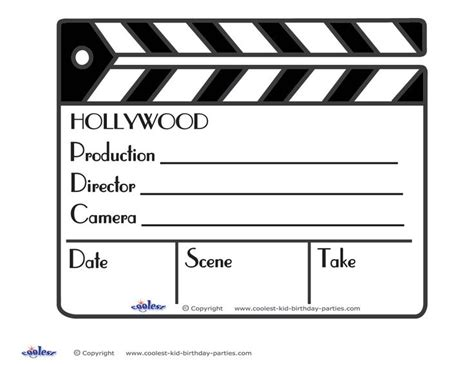 Movie Clapboard Clipart 39 Clapper Board Template Free