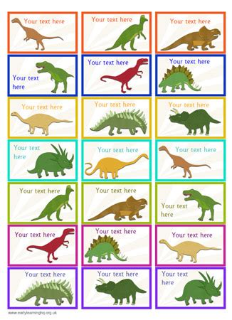 dinosaur trading card template 7 best images of dinosaur flash labels printable free
