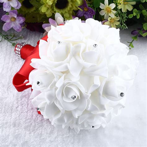 Gifts Flowers And Bridal by Brooch Wedding Bouquet Bridesmaid Artificial