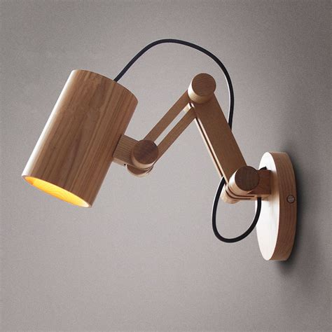 Wood Wall Sconce Light Oak Modern Wooden Wall L Lights For Bedroom Home