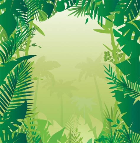 powerpoint templates jungle tropical jungle plants vector background welovesolo
