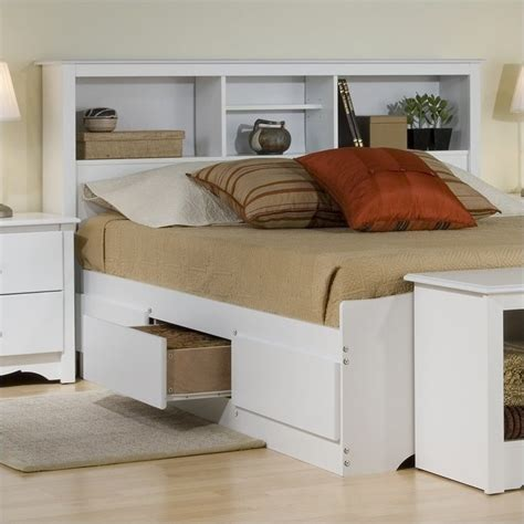 White Bedroom Set With Storage White Wood Platform Storage Bed 4 Bedroom Set