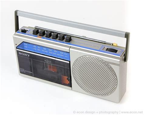 radio cassette 1980s sony cfm 100 radio cassette recorder player