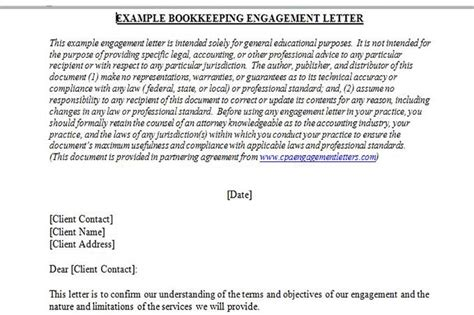 Contract Bookkeeper Letter Of Engagement Plan A Bookkeeping Business From Home With Great Name