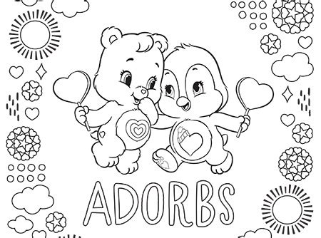 wonderheart bear coloring pages adorable cozy and wonderheart care bears coloring page