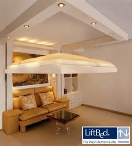 bed suspended from ceiling ceiling bed liftbed space saving beds ltd