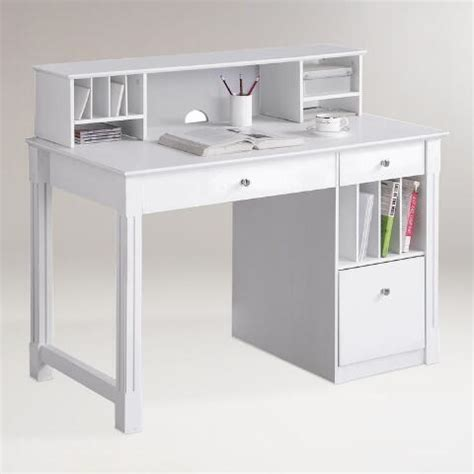 white wood desk with hutch white wood clara desk with hutch world market
