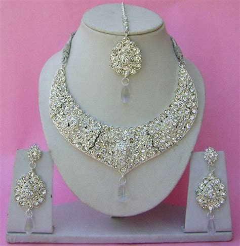 Set Bridal India Kalung India Premium Aamh021 beautiful crafted indian wedding jewellery necklace set narbh india incorporation