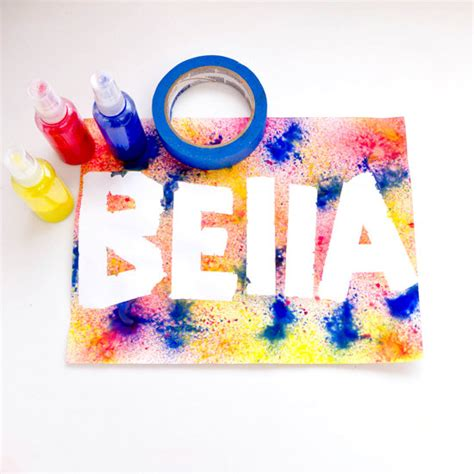 spray painting names spray paint craft for popsugar