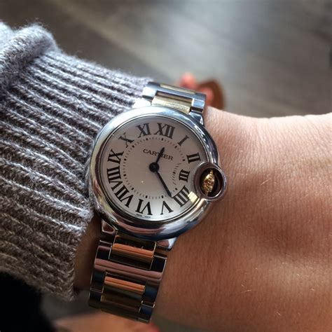 cartier ballon bleu two tone