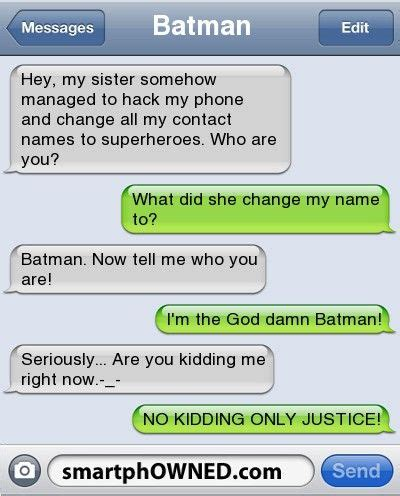 Your Name Or Text batman name change contact name changes