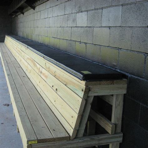 baseball dugout benches dugout bench pads from richardson athletics
