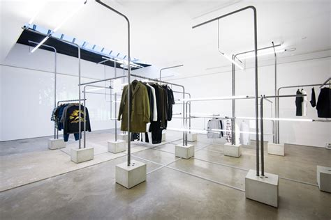 designboom vans london schemata architects grows forest of poles for mr porter