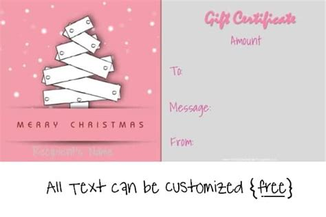 Merry Card Word Template by Free Editable Gift Certificate Template 23 Designs