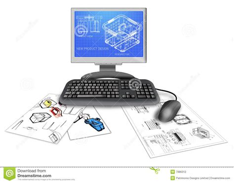 on computer product cad design on computer stock photography image 7986312