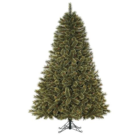sears christmas trees 7 5ft pre lit mixed pine artificial tree with multi colored lights shop
