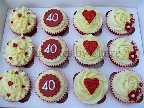 P1040196wm   4oth wedding ideas   Anniversary cupcakes
