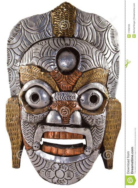 Masker 6 In 1 The boeddhistisch masker stock afbeelding afbeelding bestaande uit hindoes 17058169