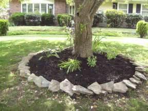 How To Lay Brick Patio Around Magnolia Tree Mulch And Hosta Decorating
