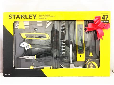 Stanley 42 643 Level Box 18 With 3 Vials Usa stanley 47pcs home diy set stht74981