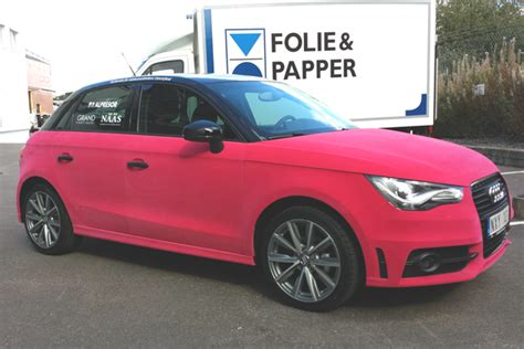 Audi A1 Pink by Audi A1 Wrapped In Pink Velvet Autoevolution