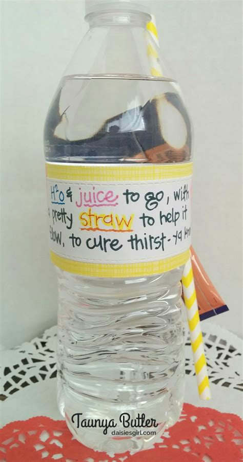 Water Bottle With Straw Animal Mixer friends daisies
