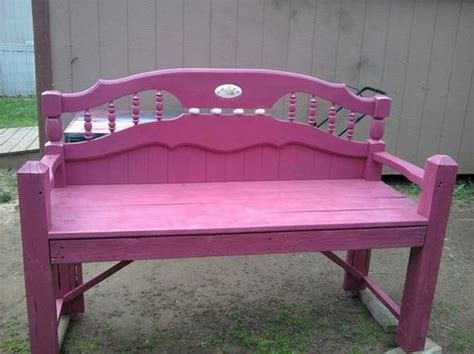 diy bench from headboard awesome diy ideas for old headboards