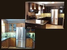 painting oak kitchen cabinets espresso 1000 images about oak refinished on pinterest oak