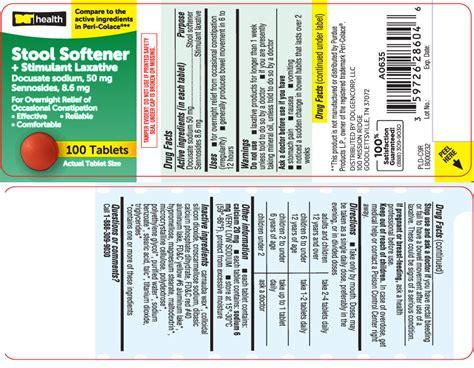 Stool Softener And Stimulant Laxative by Stool Softener Plus Stimulant Laxative Information Side