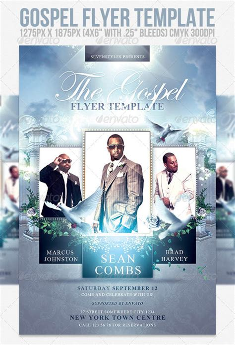 Gospel Flyer Template 30 best psd flyer templates template idesignow
