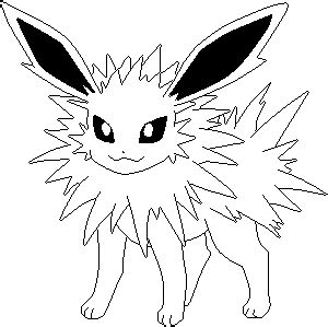 pokemon jolteon coloring pages sketch coloring page