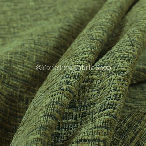 New Upholstery Fabrics by New Jacquard Plain Soft Raised Textured Green Chenille