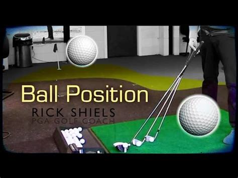 golf swing ball position golf ball position in your stance how to make do