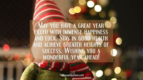 great year filled  immense happiness  luck stay  good health