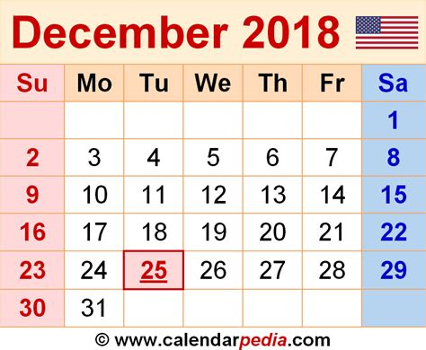 Calendar December 2017 January 2018 Excel December 2018 Calendars For Word Excel Pdf