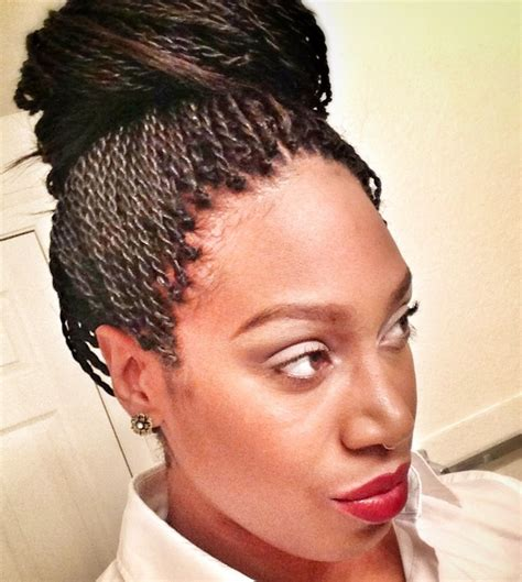 howbto put hair in bun senegalease twists my senegalese twists in a bun beauty pinterest