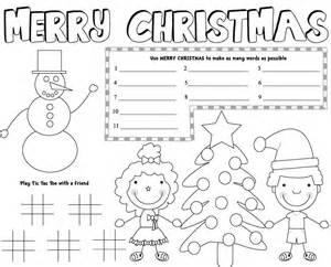Free christmas placemats free christmas printable 1