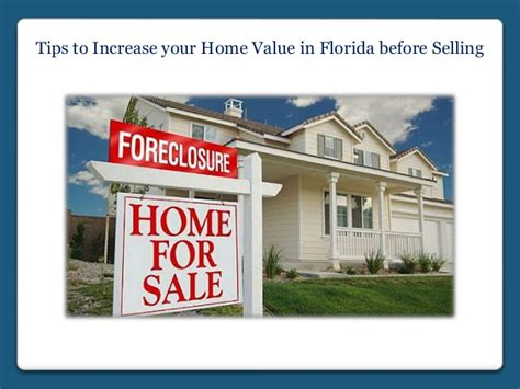 tips to increase your home value in florida before selling