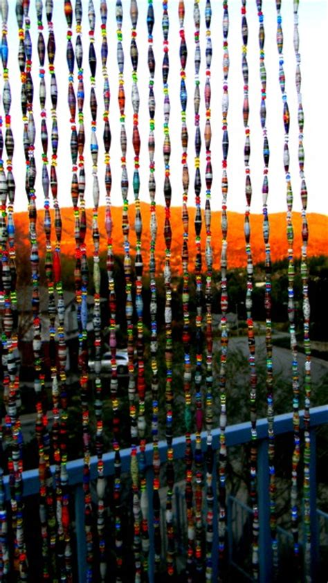paper bead curtain beaded curtain paper beads and jewelry