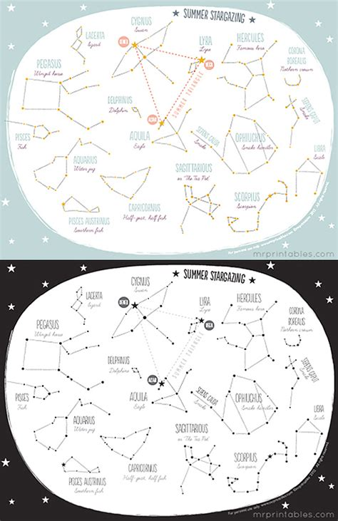 printable star map printable summer constellation map mr printables