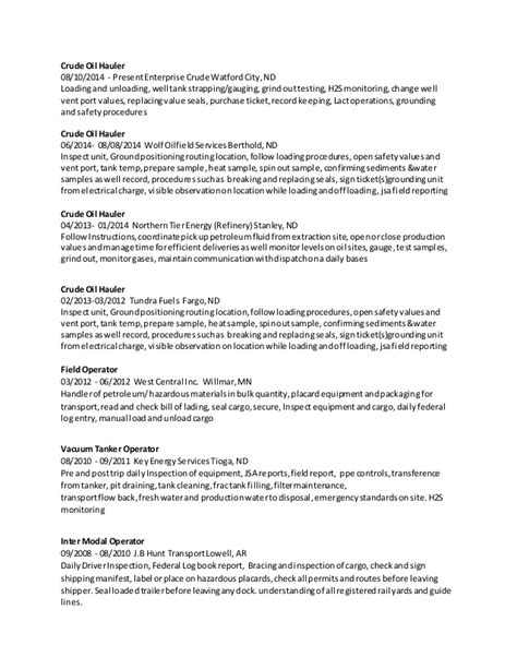 Oilfield Resume Examples by Field Operator Resume