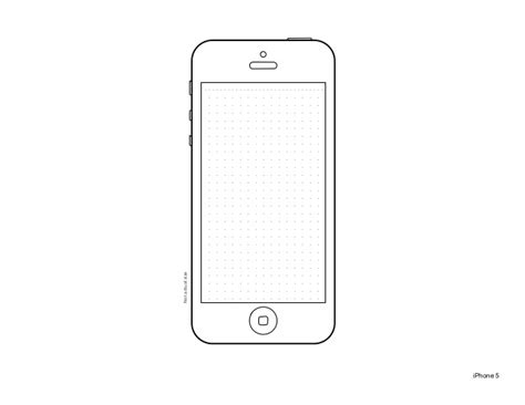 Iphone 5 Design Templates Iphone Layout Template