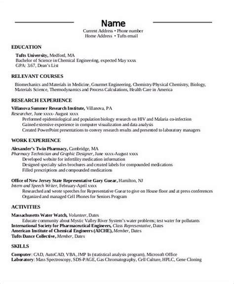 the order of chronological resume sle